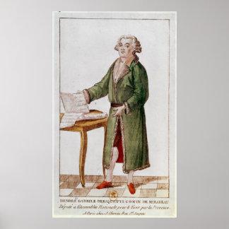 Honore Gabriel Riqueti Mirabeau Poster