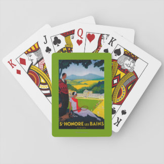 Honore Les Bains Vintage PosterEurope Playing Cards