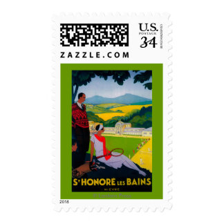 Honore Les Bains Vintage PosterEurope Postage