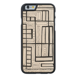Honored Thoughtful Happy Phenomenal Carved Maple iPhone 6 Case
