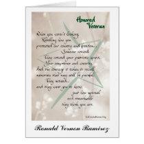 Honored Veteran Card Personalized