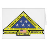 Honores fúnebres militares tarjeta de felicitación