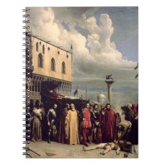 Honores funerarios dados a Titian que murió en Ven Libro De Apuntes