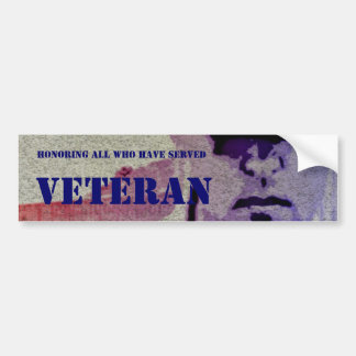 Honoring All Who Have Served Vet Bumper Sticker Bumper Sticker