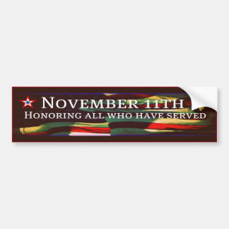 Honoring All Who Have Served Vet Bumper Sticker Bumper Stickers