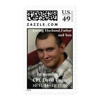 Honoring CPL David Unger Postage Stamp