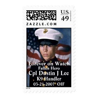 Honoring Cpl Dustin J Lee Postage Stamp