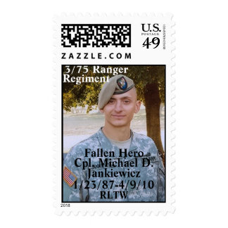 Honoring Cpl. Michael D. Jankiewicz Postage Stamp