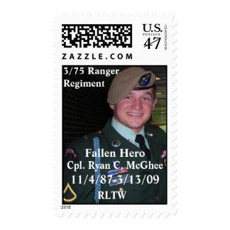Honoring Cpl. Ryan C. McGhee Postage