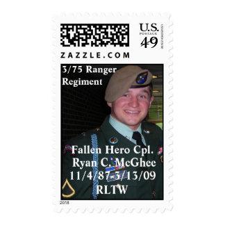 Honoring Cpl. Ryan C. McGhee Postage Stamps