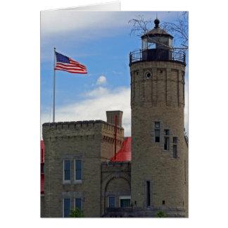 Honoring Mackinaw Lighthouse Greeting Card