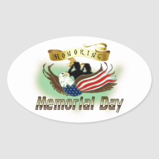 Honoring Memorial Day Oval Sticker
