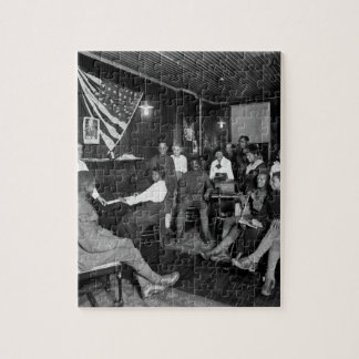 Honoring men about to leave for camps. _War image Jigsaw Puzzle