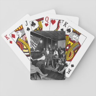 Honoring men about to leave for camps. _War image Playing Cards