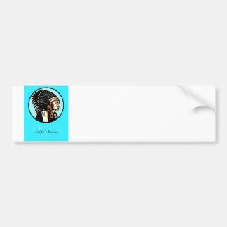 Honoring Native American Day Retro Greeting Card Bumper Sticker