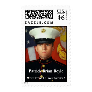 Honoring Patrick Brian Boyle Postage Stamps