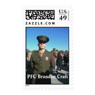 Honoring PFC Brandon Craft Stamp