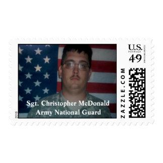 Honoring Sgt. Christopher McDonald Postage
