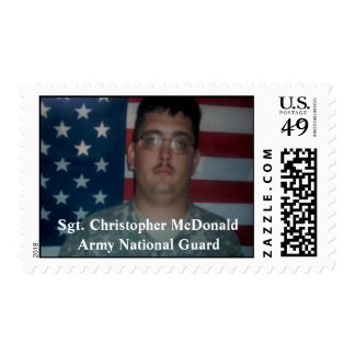 Honoring Sgt. Christopher McDonald Postage Stamp