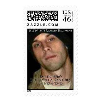 Honoring Sgt. Jason A. Santora Postage Stamps