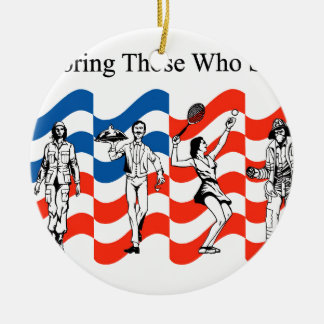 Honoring Those who Served Ceramic Ornament