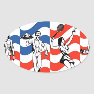 Honoring Those who Served Oval Sticker