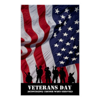 Honoring those who served.  Veterans Day Poster