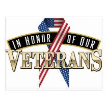 Honoring Veterans Logo Ribbon Postcard