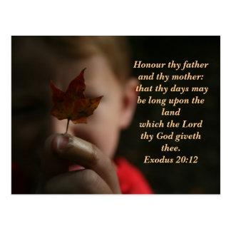 Honour thy father and thy mother: tha... postcard