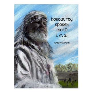 HONOUR THY SPOKEN WORD /|\ POSTCARD