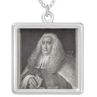 Honourable Mr Justice Blackstone Square Pendant Necklace