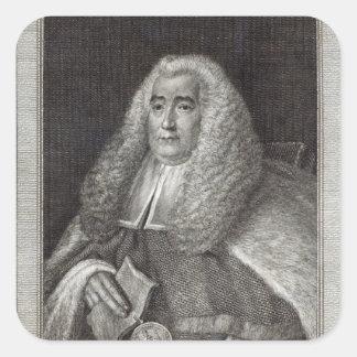 Honourable Mr Justice Blackstone Square Sticker