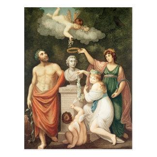 Honouring the Bust of Linnaeus Postcard