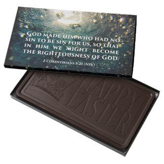 Honrado de arte de la escritura del 5:21 de los barra de chocolate negro grande