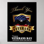 Honrando a los que sirvieron.  Día de veteranos fe Impresiones