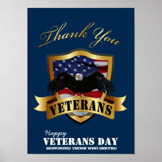 Honrando a los que sirvieron.  Día de veteranos fe Póster
