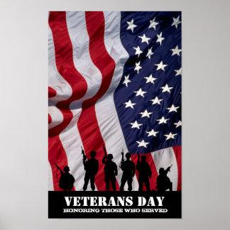 Honrando a los que sirvieron.  Día de veteranos Póster