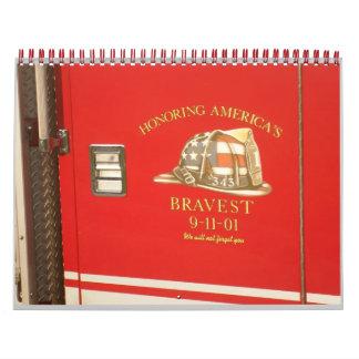Honrar a bomberos calendario