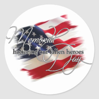 honrar a nuestros héroes caidos pegatinas redondas