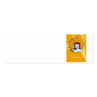 Honrar la tarjeta retra del poster del día del nat tarjetas de visita mini