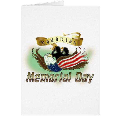 Honrar Memorial Day Tarjeta De Felicitación