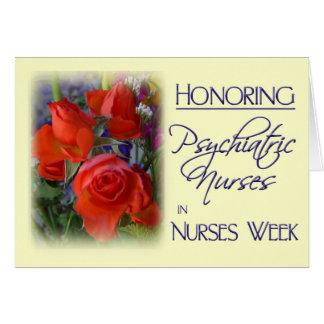 Honrar semana psiquiátrica de las tarjeta de felicitación