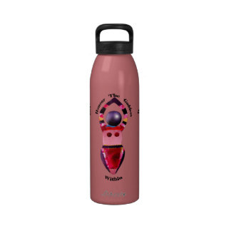 Honre a la diosa dentro botellas de beber