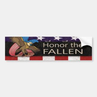 Honre a los militares caidos pegatina de parachoque