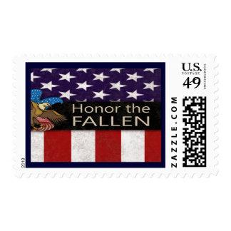 Honre a los militares caidos timbres postales