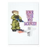 Honre a los que sacrificaron invitación 12,7 x 17,8 cm