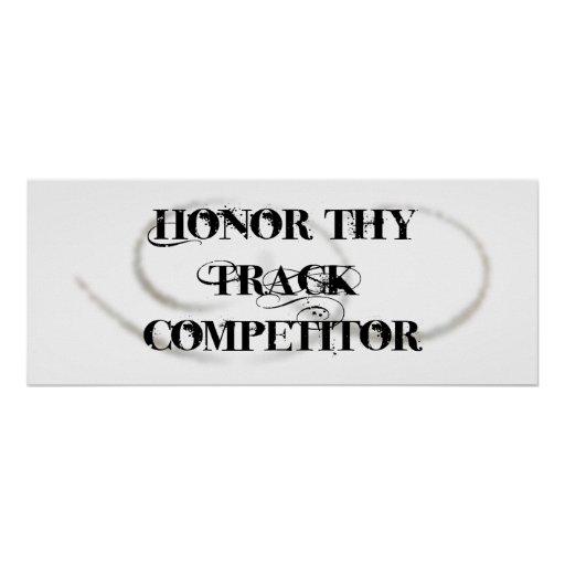 Honre a Thy competidor de la pista Póster