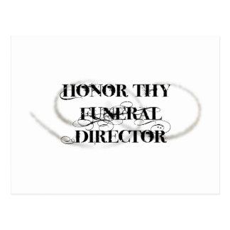 Honre a Thy director de funeraria Tarjetas Postales