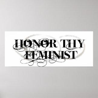 Honre a Thy feminista Impresiones