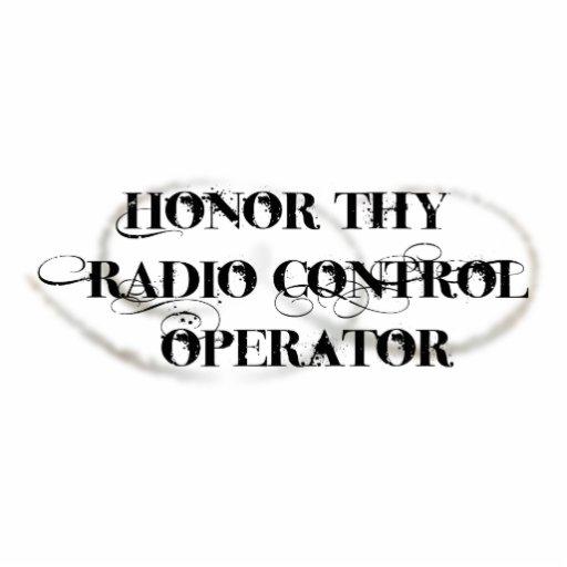 Honre a Thy operador de control de radio Fotoescultura Vertical
